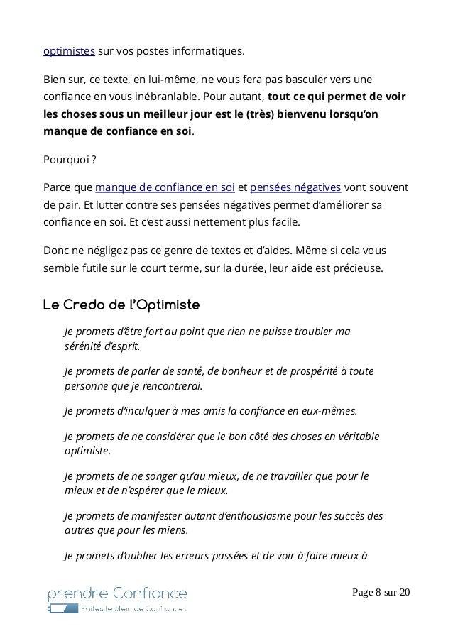 Textes Citations Pour Reprendre Confiance En Soi