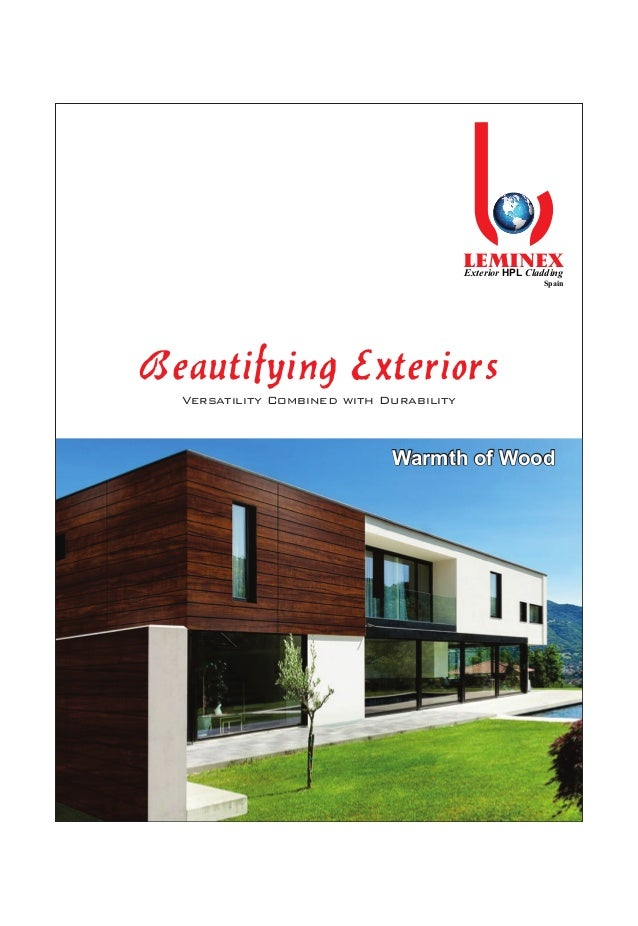 LEMINEX Beautifying Exteriors Versatility Combined with Durability Exterior HPL Cladding Spain Warmth of WoodWarmth of Woo...