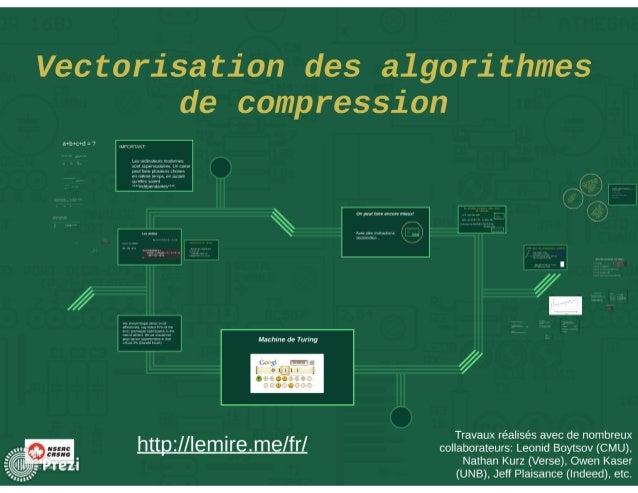 La vectorisation des algorithmes de compression