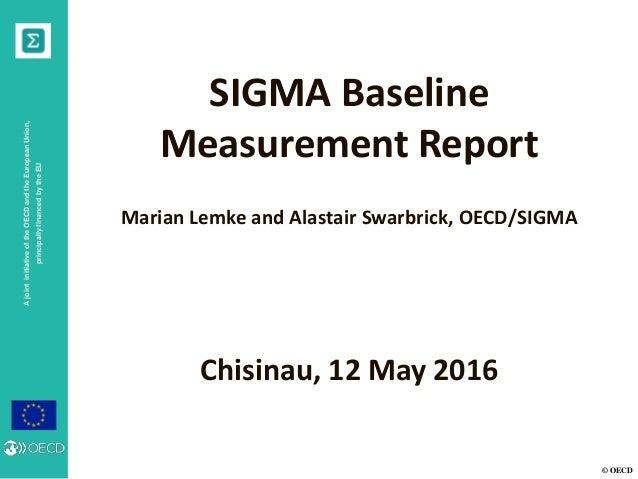 © OECD AjointinitiativeoftheOECDandtheEuropeanUnion, principallyfinancedbytheEU SIGMA Baseline Measurement Report Marian L...