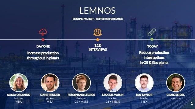 LEMNOS ALISSA ORLANDO hustler MBA DANE RENNER picker MBA FERDINAND LEGROS designer CS + MS&E MAXIME VOISIN hacker CS + MS&...