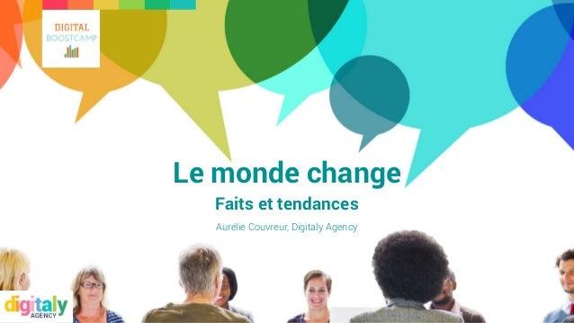 Le monde change Faits et tendances Aurélie Couvreur, Digitaly Agency
