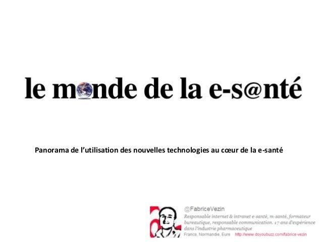 Panorama de l'utilisation des nouvelles technologies au cœur de la e-santé