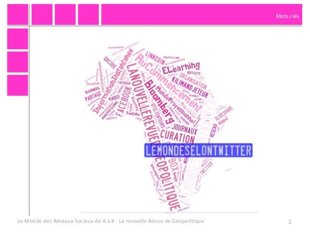 """""""Le monde des reseaux sociaux de A à #"""" pour la Nouvelle Revue de Geopolitique n°122 - juillet 2013 Slide 2"""