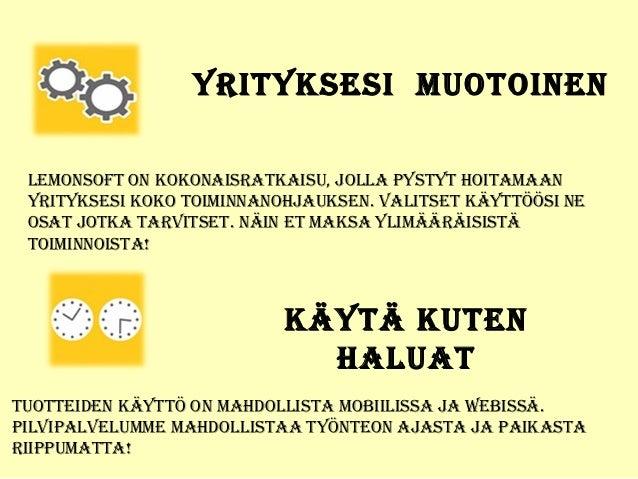 Lemonsoft toiminnanohjaus - Work Leader Finland Oy Slide 3