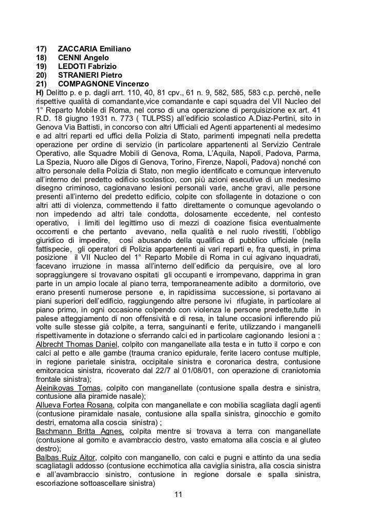17)     ZACCARIA Emiliano18)     CENNI Angelo19)     LEDOTI Fabrizio20)     STRANIERI Pietro21)     COMPAGNONE VincenzoH) ...