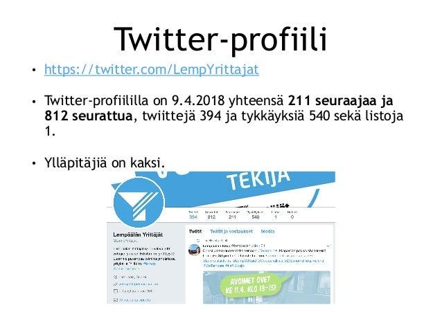 Lempäälän Yrittäjät sosiaalisessa mediassa keväällä 2018 Slide 3