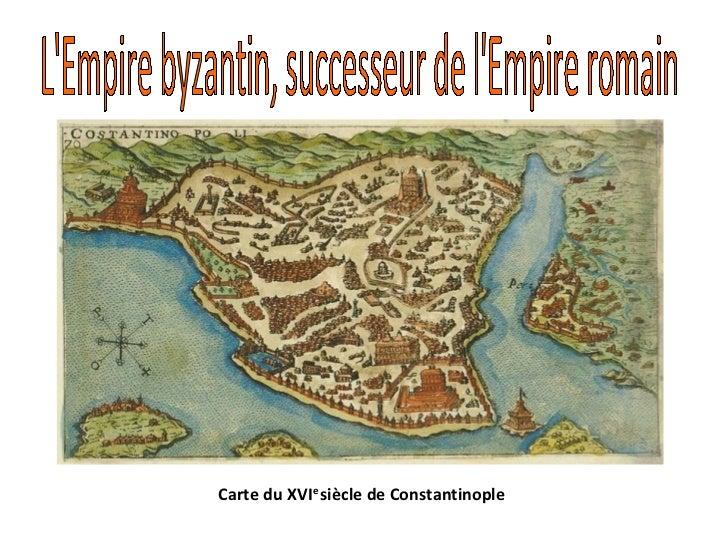 Carte du XVIe siècle de Constantinople