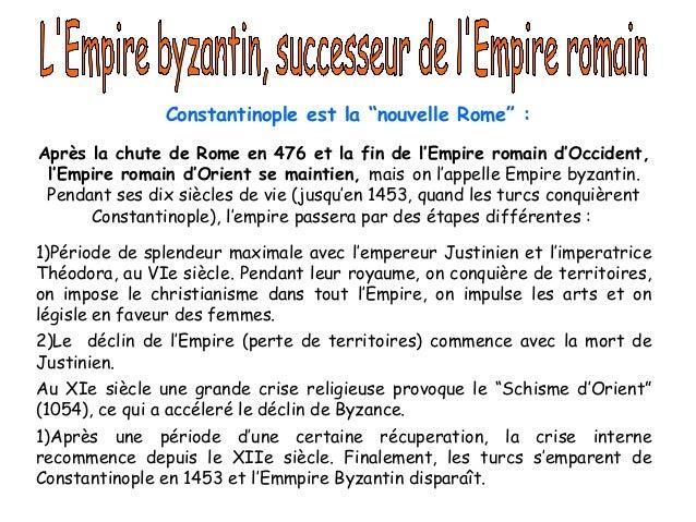"""Constantinople est la """"nouvelle Rome"""" : Après la chute de Rome en 476 et la fin de l'Empire romain d'Occident, l'Empire ro..."""