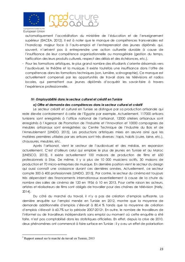 23 automatiquement l'accréditation du ministère de l'éducation et de l'enseignement supérieur (EACEA, 2012). Il est à not...