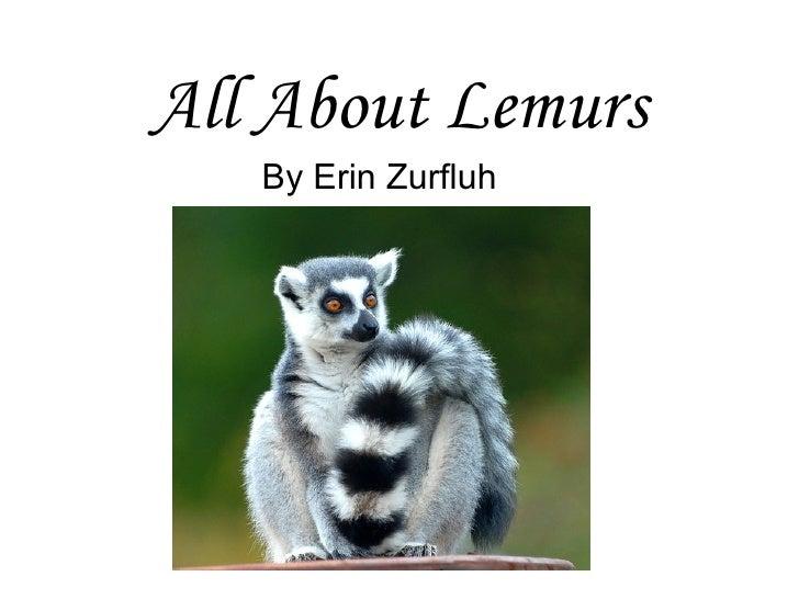 All About Lemurs By Erin Zurfluh