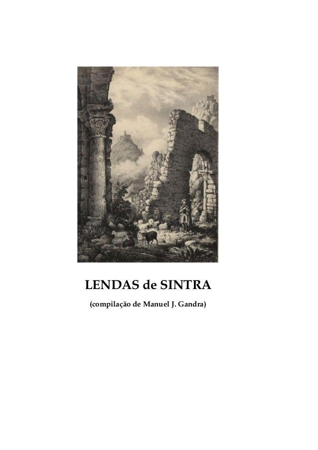 LENDAS de SINTRA(compilação de Manuel J. Gandra)