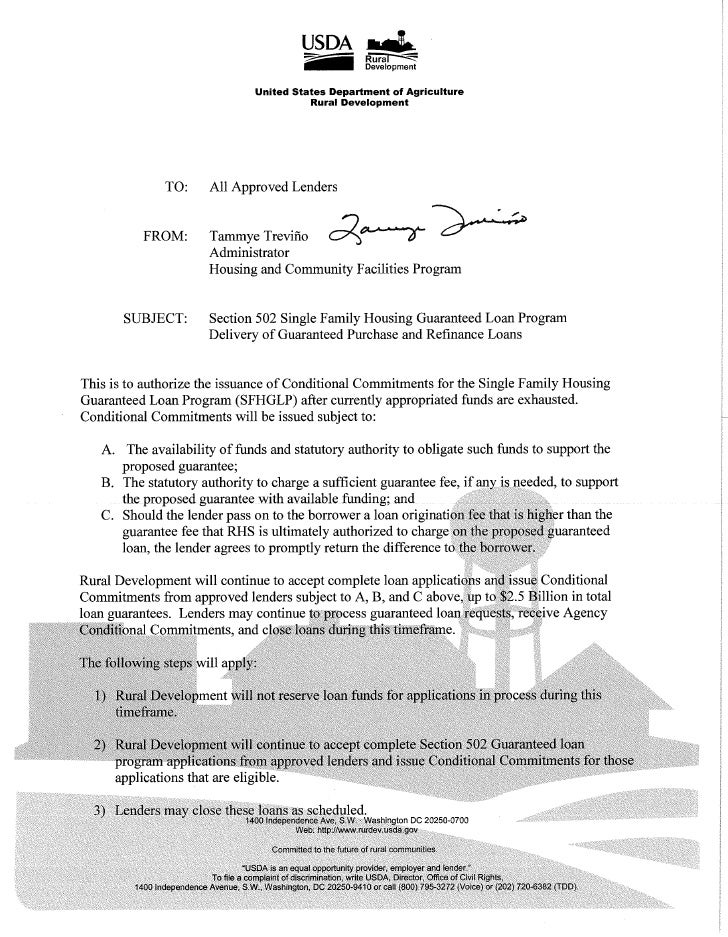 Lender Notice 5-2010