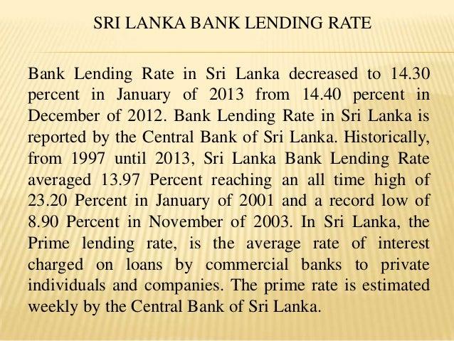 Lending policy by banks in sri lanka - By Nitish Kaushik Slide 2