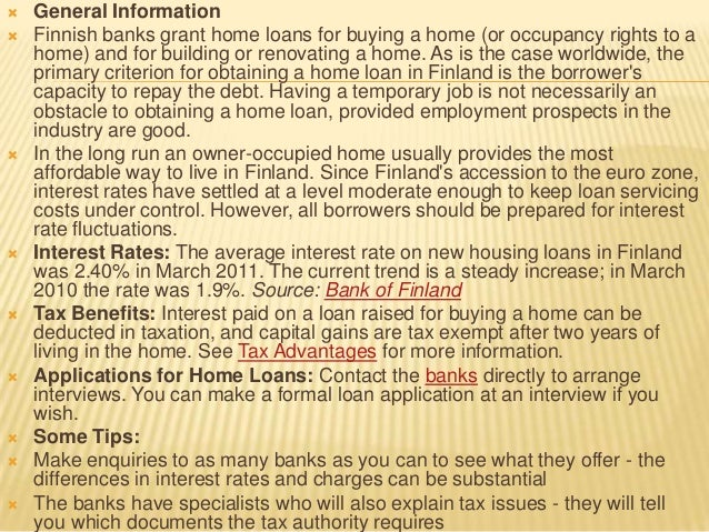 Lending policy of banks in finland - 웹