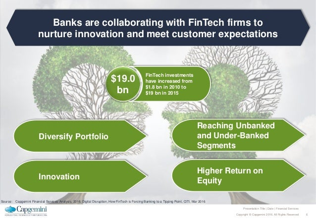 6Copyright © Capgemini 2016. All Rights Reserved Presentation Title | Date | Financial Services Banks are collaborating wi...