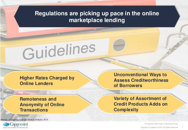 7Copyright © Capgemini 2016. All Rights Reserved Presentation Title | Date | Financial Services Regulations are picking up...
