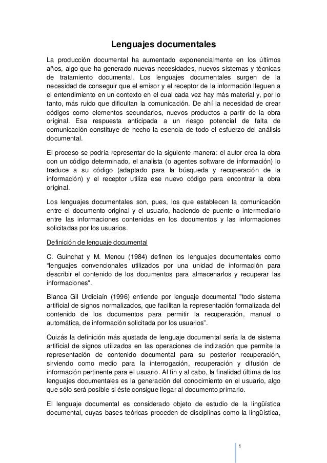 LENGUAJES DOCUMENTALES Slide 2