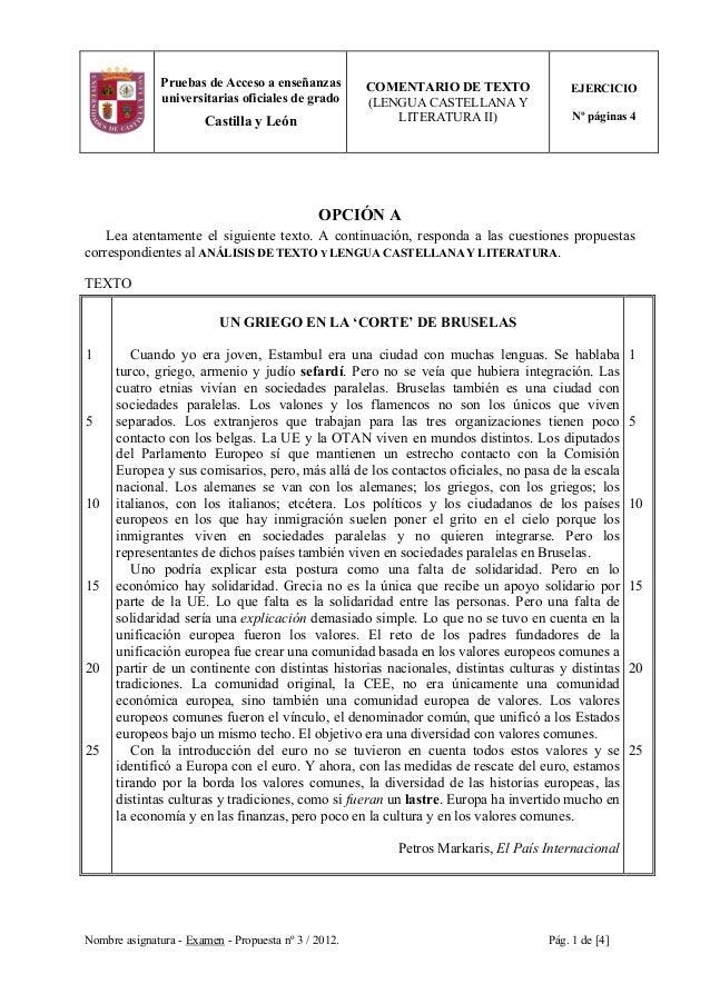 Nombre asignatura - Examen - Propuesta nº 3 / 2012. Pág. 1 de [4] Pruebas de Acceso a enseñanzas universitarias oficiales ...