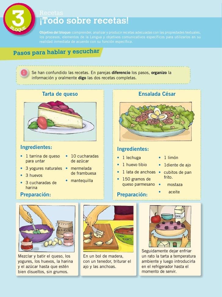 Lengua 5 2 for Libro procesos de cocina