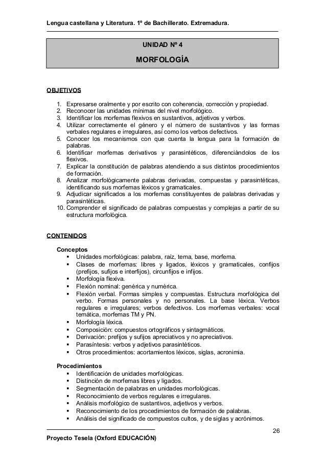Lengua Castellana Y Literatura 1 Bachillerato Oxford Tesela Pdf