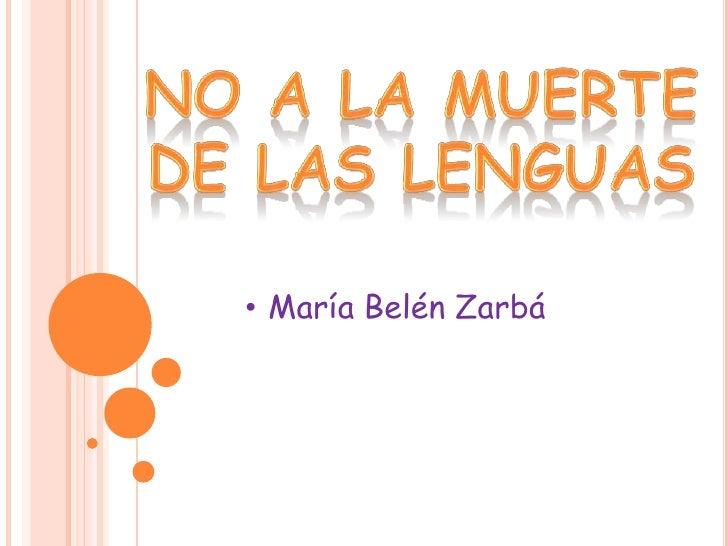 • María Belén Zarbá