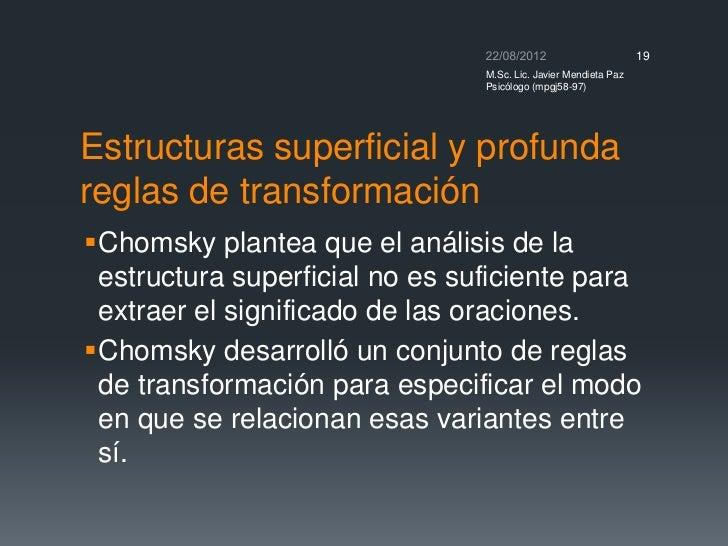 Estructuras sintacticas chomsky