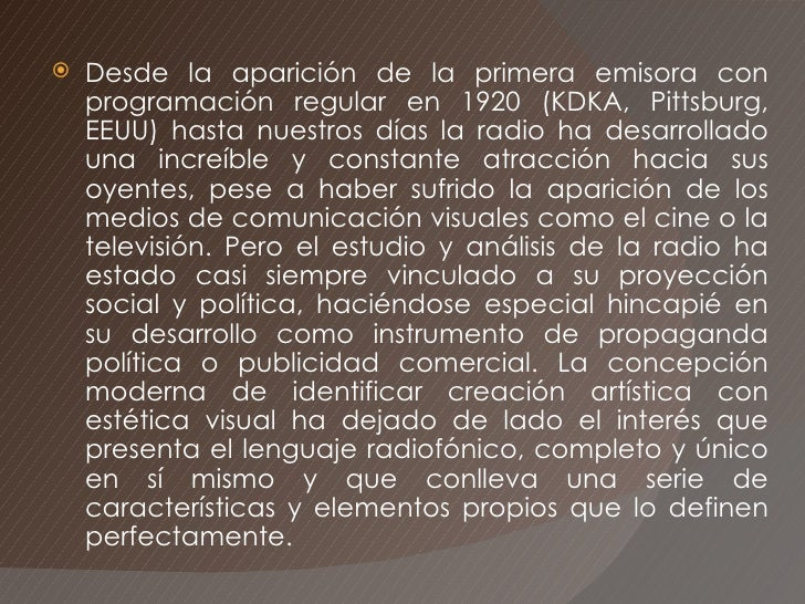 Lenguaje RadiofòNico