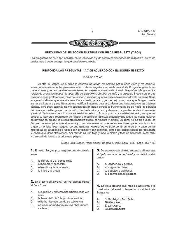 2 AC - 042 - 117  2a. Sesión  PREGUNTAS DE SELECCIÓN MÚLTIPLE CON ÚNICA RESPUESTA (TIPO I)  Las preguntas de este tipo con...