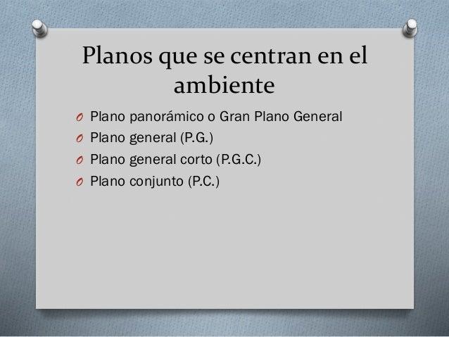 Plano de conjunto (P.C.)  Permite ver a dos personajes en relación dentro de un marco reconocible.
