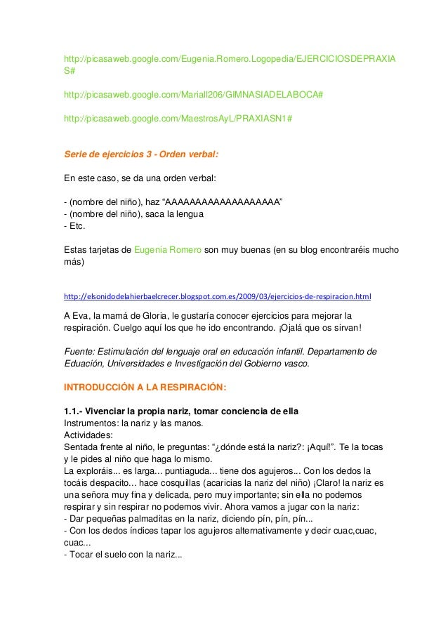 http://picasaweb.google.com/Eugenia.Romero.Logopedia/EJERCICIOSDEPRAXIA S# http://picasaweb.google.com/Mariall206/GIMNASIA...