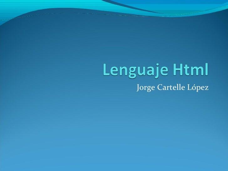 Jorge Cartelle López