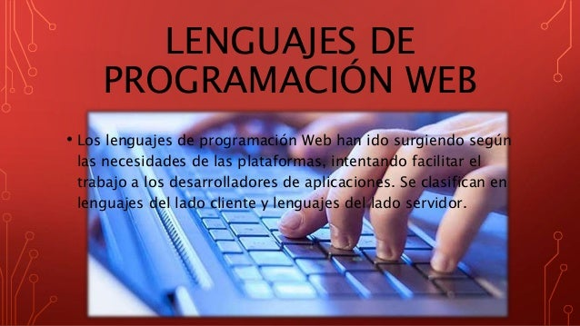 Lenguajes de programación web Slide 2