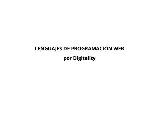 LENGUAJES DE PROGRAMACIÓN WEB por Digitality