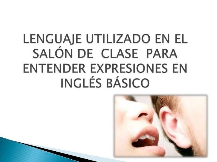 Lenguaje utilizado en el sal n de clase andres 1 for 10 reglas para el salon de clases en ingles
