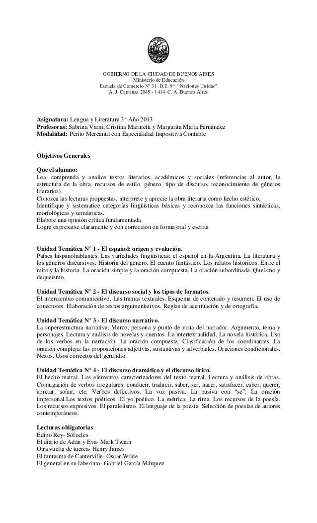 Lengua Programa 3 2013
