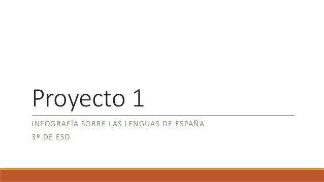 Proyecto 1 INFOGRAFÍA SOBRE LAS LENGUAS DE ESPAÑA 3º DE ESO