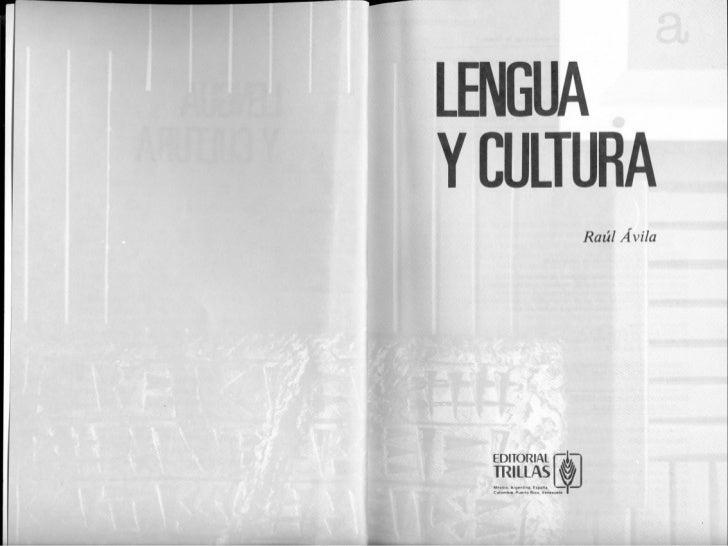 Unidad I Lengua y cultura   raúl ávila