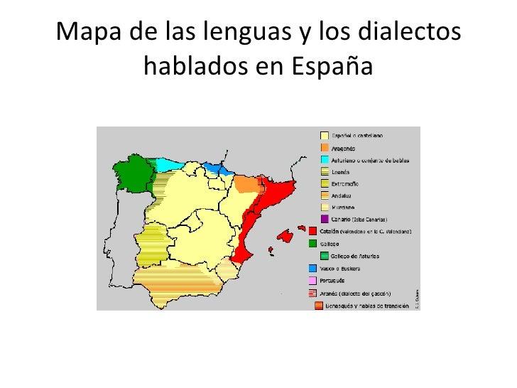 Dialectos De España Mapa.Lengua Y Sociedad Unidad 1