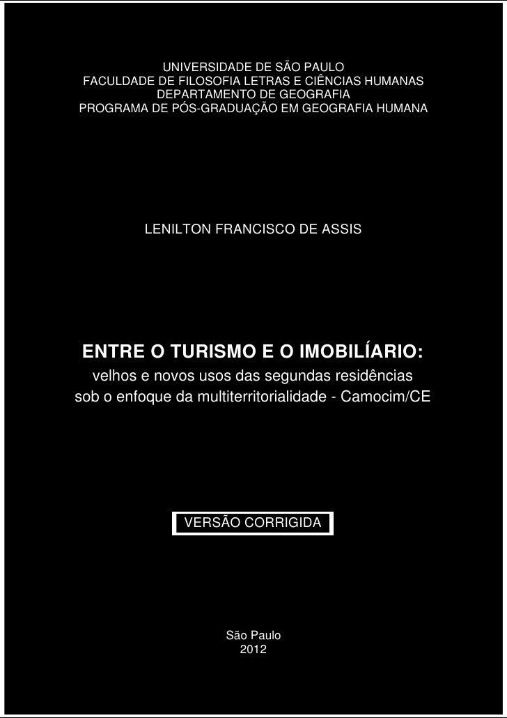 UNIVERSIDADE DE SÃO PAULOFACULDADE DE FILOSOFIA LETRAS E CIÊNCIAS HUMANAS          DEPARTAMENTO DE GEOGRAFIAPROGRAMA DE PÓ...