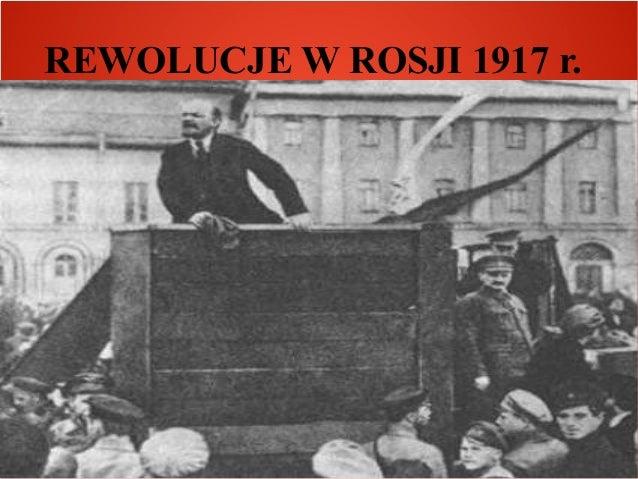 REWOLUCJE W ROSJI 1917 r.