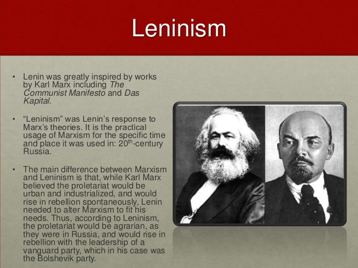examining the effect of marxism leninism on russia Eur1 what did lenin and stalin contribute to communism in russia leninism was heavily based on the ideas of marxism socialism in one country was to effect.