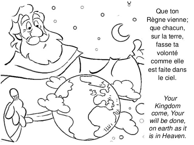 the our father coloring pages - photo#15