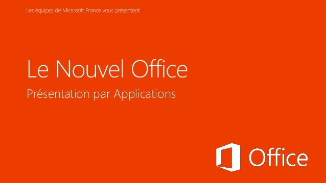 Présentation par Applications