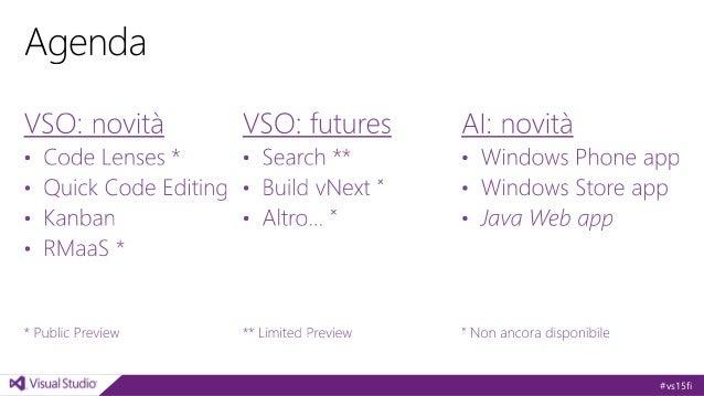 Le novità di Visual Studio Online Slide 3