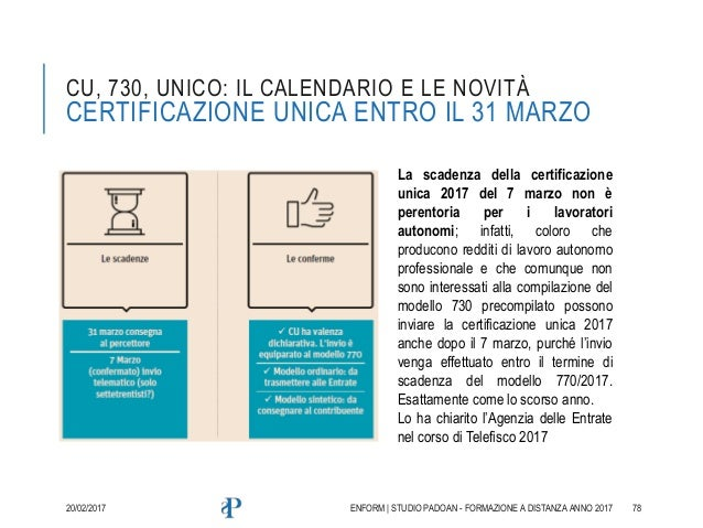 Le novit fiscali alla luce delle risposte del telefisco 2017 for Scadenza presentazione 730 anno 2017