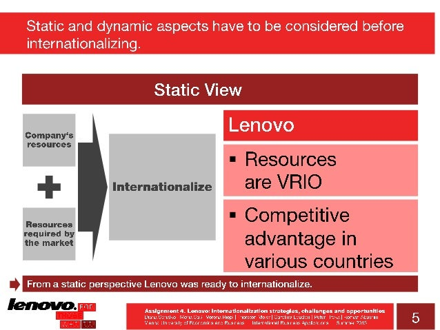 lenovo internationalization With the sale of ibm's personal computer business to chinese company lenovo group limited, two emerging trends quickly move front and center: the increasing commoditization of technology and the emerg.