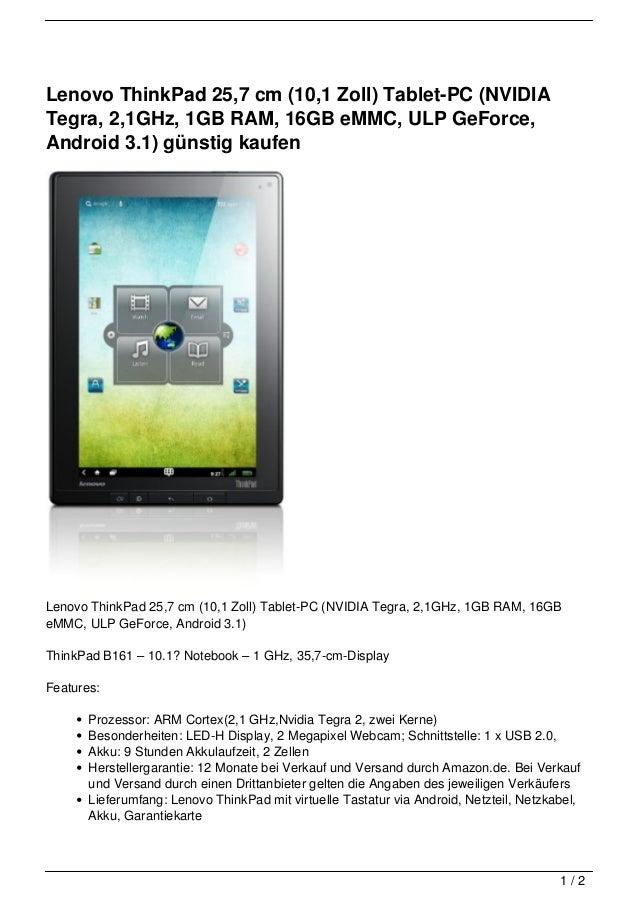 lenovo thinkpad 25 7 cm 10 1 zoll tablet pc nvidia. Black Bedroom Furniture Sets. Home Design Ideas