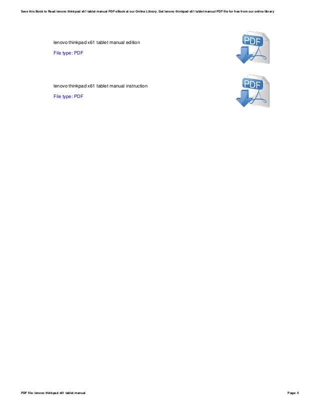 Download free pdf for lenovo thinkpad x61 tablet 7762 laptop manual.