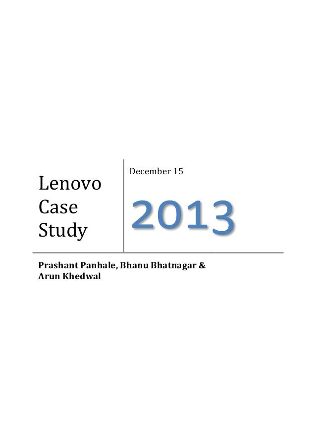 Lenovo - Case Study Example